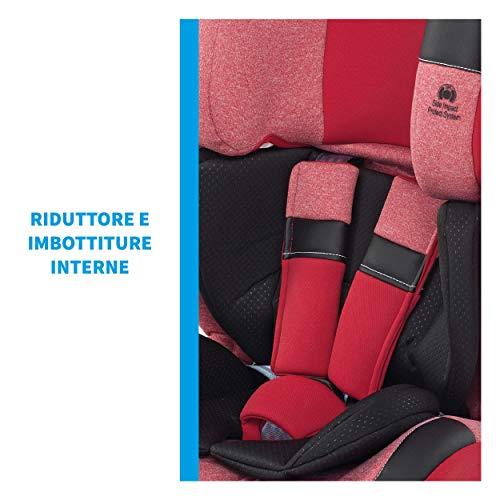 Foppapedretti Re-klino Fix Seggiolino Auto ISOFIX Gruppo 1/2/3 (9-36KG), per Bambini da 9 Mesi a 12 Anni, ISOFIX, Grigio