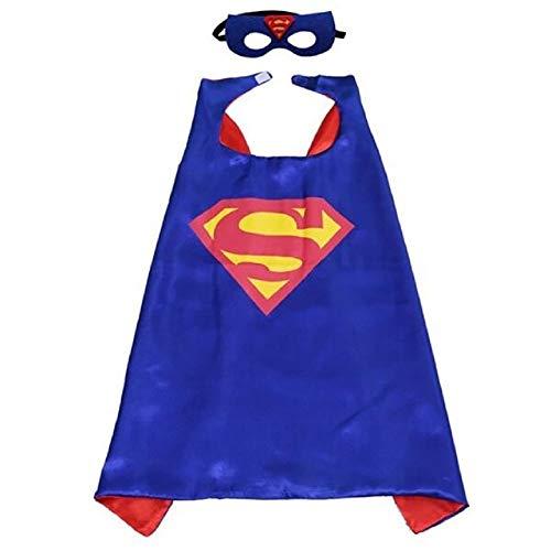 HOUSE CLOUD Costumi da Supereroi per Bambini - Regali di Compleanno - Costumi di Carnevale - 1 Mantello con Maschera - Logo di Superman – Giocattoli per Bambini e Bambine