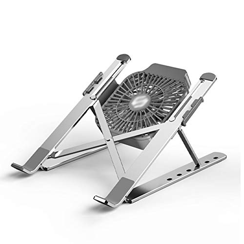Foldable Laptop Stand,Lightweight Adjustable Portable Laptop Holder Compatible For Notebook Laptop 13-17 Inches,Silver-B