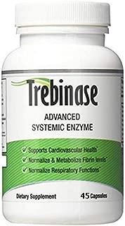 Trebinase 45 Capsules - Systemic Enzyme - Serrapeptase, Nattokinase & More