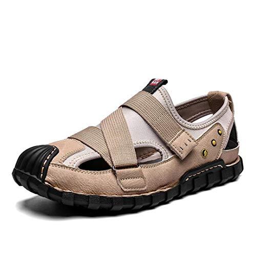 RatenKont Sandalias de los hombres zapatos de playa zapatos para hombres sandalias de roma transpirables las sandalias Sand color 8.5