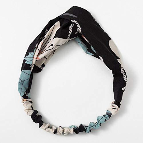 Turbantes para Mujer Diademas Fashion Floral Print Knot Women Headband Vintage Hairband Headwear Leopard Headband Hair Accessories-192