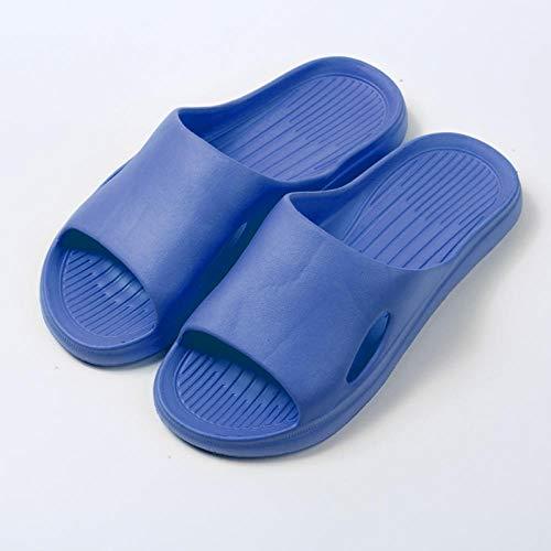 MQQM Zapatillas Sandalias de Playa Interior,Zapatillas de Verano Antideslizantes de Suela Blanda, Sandalias con Plataforma de baño-Blue_40-41,Piscina Sandalias De Interior