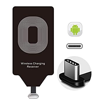 Wireless Charging Receiver Qi Charger Adapter for LG Stylo 6 5 4 G5 V20 K31 Samsung Galaxy A9 A8 C9 Pro J7 Google Pixel 2 XL Essential Phone Moto G7 Z2 Force Play G6 Plus HTC USB Type C Android Charge