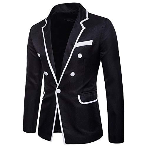 QXPORV Mannen blazer voor heren, eenkleurige herfst- en wintermodellen met bijpassende lunet ontworpen een herenpak met knoop