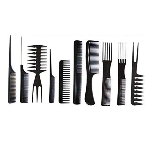 Teenxful Bluelans 10 pcs Professional Coiffeur Barbiers Peignes de Noir