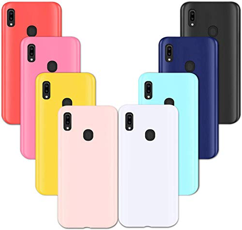 [8 Pack] Samsung Galaxy A20 /A30 Case, Anti-Drop Soft Silicone Gel Rubber Bumper Phone Case Shell Shockproof Case Cover for Samsung Galaxy A30