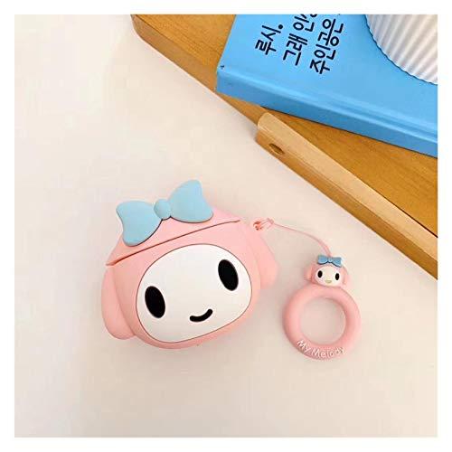 Ykjspd Schlüsselanhänger Netter Karikatur-reizende Schlüsselanhänger Puppe Keychain Keyring Bluetooth Kopfhörer-Schutzhülle Fingerring Geschenk (Color : 1)