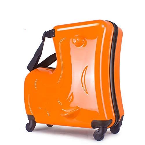 KGDUYH Maleta para niños con ruedas de 50,8 cm, para niños, con ruedas, para cabina, para estudiantes, bolsa de viaje, para viajes y negocios (color: naranja, tamaño del equipaje: 20 pulgadas)