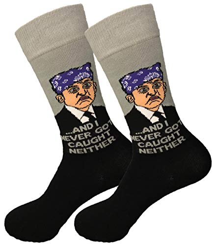 Balanced Co. Prison Mike Dress Socks Michael Scott Funny...