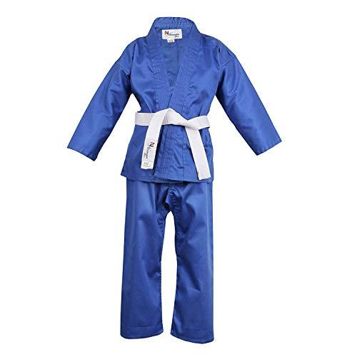 Norman Blau Kinder Karate-Anzug Gratis Weißer Gürtel Kinder Karate-Anzug - 100cm