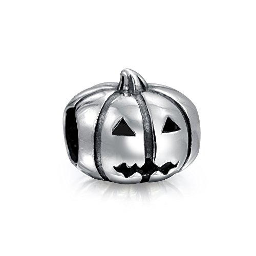 Halloween Jack O Laterne Kürbis Charme Perle Für Frauen Für Teen Oxidiert 925 Sterling Silber Für Europäische Armband