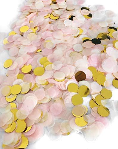 Cavore Konfetti Gold Mehrfarbig, 1cm rund, 20g, 1500 Stück – Elegante und Moderne Partydeko – Geburtstag, Hochzeit, Baby-Shower