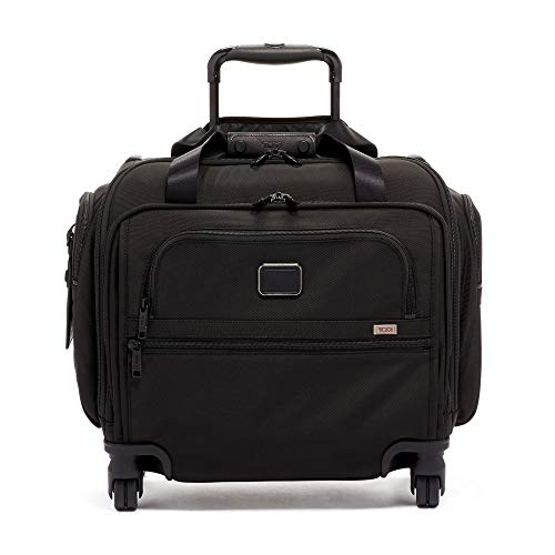 TUMI - Alpha 3 Compact 4 Wheeled Carry-On Duffel Bag - Travel Rolling Luggage for Men and Women - Black