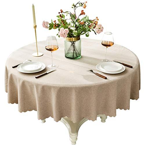 Tafelkleed rond katoen en linnen waterdicht tafelkleed rond huis eettafel tafelkleed hotel tafelkleed Little