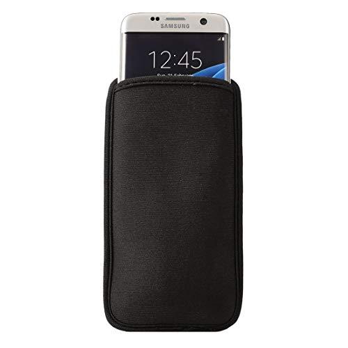 Byr883onJa Casos de la Cubierta de protección Bolso del teléfono Celular del Neopreno for Samsung Galaxy S9 / S8 / S7 Edge / G935 y S6 Edge / G925, tamaño: 9.0 * 16.5cm (Color : Black)