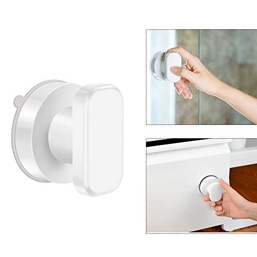 OurLeeme sterke zuignap lade glazen spiegel wandtegel handgrepen voor toilet badkamer deur trekkers