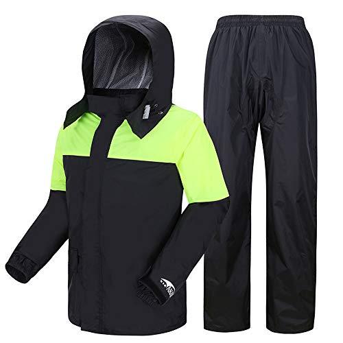ZXLife@ Waterdichte motorkleding, voor dames, waterdicht, regenkostuum, winddicht, motorfiets, regenkleding voor mannen in de openlucht, zonder stok