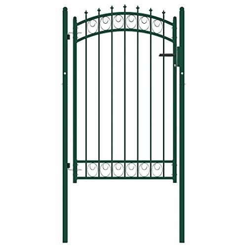 Puerta de jardín, puerta abatible de metal, puerta para valla exterior, entrada,...