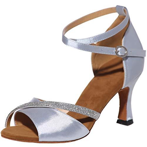 MGM-Joymod Mujeres Glitter Cristales Cadenas Salsa Samba Rumba Salón de Baile Latino...