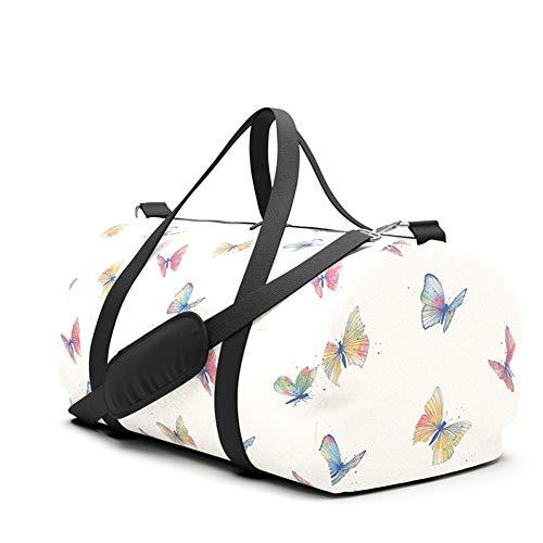 Borsone da viaggio con farfalle