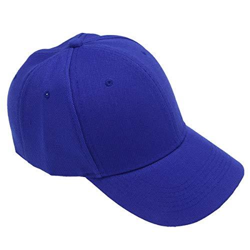 LIOOBO Baseballmützen - Plain Dad Hat - Baseballmützen für Damen Herren (Blau)