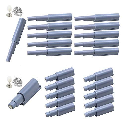 Counius 20 piezas Amortiguadores Magnéticos Push Open Pestillo Interruptor silencio para Puerta Armario Cocina Cajón Sistema Apertura Puertas Abre y Cierra la Puerta con un solo empuje