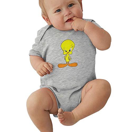 B. Bone Tweety Bird Angry Baby Jungen Pyjama Unisex Strampler Baby Mädchen Body Infant Kawaii Overall Outfit 0-2t Kinder,grau,0-3 Monate