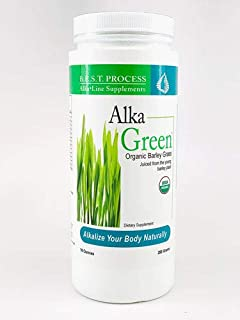 Alka-Green Powder (10 OZ) Organic Barley Grass & Naturally Chelated Colloidal Minerals & Enzymes for Improved Digestion, E...