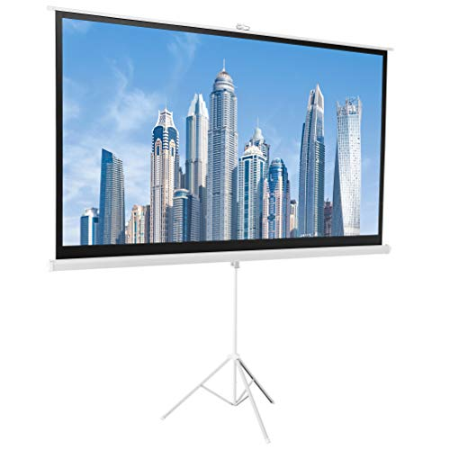 AmazonBasics 16:9 Portable Projector Screen - 100 inch (254 cm), White