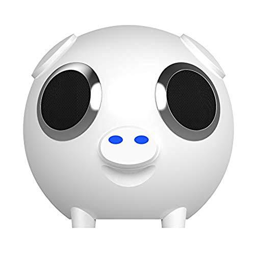 Shaped Bluetooth Speaker, Portable Power Bank Luidspreker FM-Radio Pak Voor Huis Outdoor, White,White