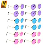 Skeleteen Tinted Round Hippie Glasses – Pink...