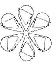 Spinacze biurowe – 100 sztuk spinaczy w kształcie kropli wody, metalowe spinacze biurowe retro wydrążone małe zakładki do książek, notatek, papieru, plakatów, zdjęć (zielone)