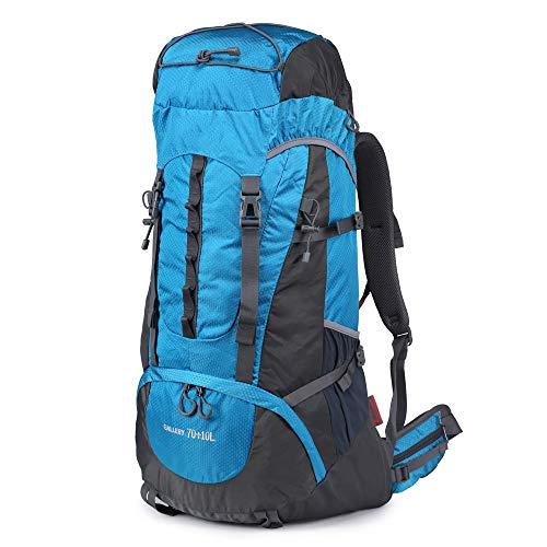Wanderrucksack, 70 l, große Kapazität, wasserdicht, Bergsteigen, Wandern, Camping, Ausflug, Outdoor, Tagesrucksack, für Männer und Frauen, Sportrucksack, blau