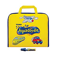 [OFFICIAL AQUADOODLE MAT] Aquadoodle is the #1 selling water doodle mat on Amazon UK. Produced with the highest quality materials and made to last. Perfect gift for your toddler! [COMPACT TRAVEL SIZE] This drawing baby toy is designed for non-stop do...