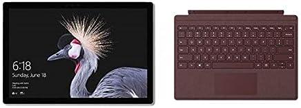 Microsoft Surface Pro 2017 Tablet - Intel Core i7, 12.3 Inch, 512GB, 16GB, Wi-Fi, Windows 10 Pro, Silver with English Keyboard - Burgundy - Latest Version