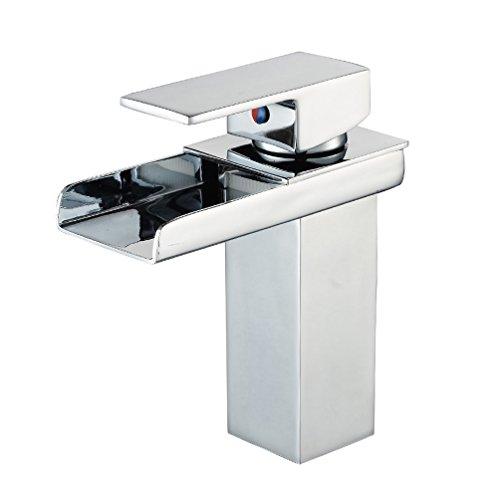 ecoily modernes Chrom Wasserfall Waschbecken Armatur Luxus Badezimmer Hebel Wasserhahn
