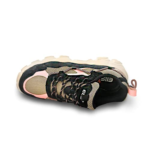 elis ElisComfort Sneaker, Zapatillas Mujer (Rosa/Beige, Numeric_36)