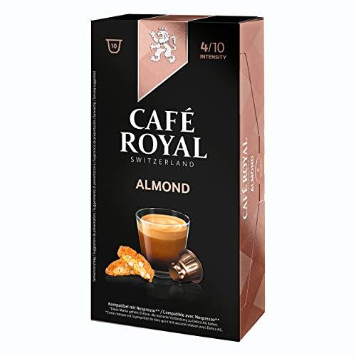 Café Royal flavo ured Almond, Café, Café, Cápsulas de Café, Compatible con Nespresso, Tostado 50Cápsulas