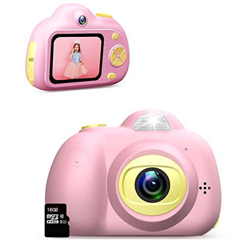 Dreamingbox Spielzeug für Mädchen 3-10 Jahre,Digitalkamera für Kinder ab 3-10 Jahre Mädchen Geschenk Geburtstagsgeschenk für Mädchen 3-10 Jahre Mädchen Spielzeug 3-10 Jahre Kindertag (Rose)