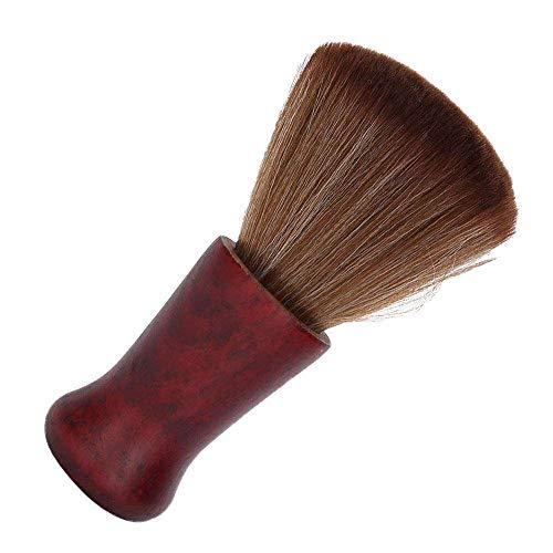 Yuyanshop Cepillo facial de afeitar de pelo masculino hombres facial cuello removedor de polvo barba cepillo de limpieza cepillo de afeitar barbero barba cepillo de afeitar