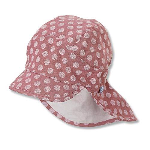 Sterntaler Baby Mädchen Schirmmátze M. Nackenschutz 1412120 Winter Hut, rosa, 49 EU