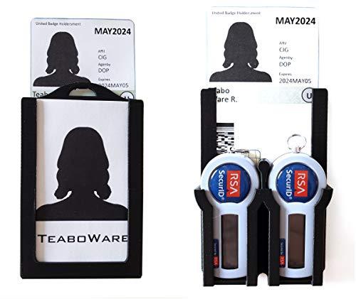 Double RSA Token Double Badge Holder (Black, Double Token)