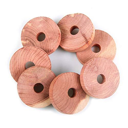 Teeyyui Repelente de polillas de cedro, 10 anillos de madera de cedro para armarios, anillos de cedro aromático, protección ecológica contra polillas y cajones ambientadores (10 unidades)