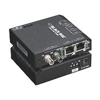 Black Box 2-RJ45 1-ST IND CATx 100Mbps MM Switch DIN-Rail Hardened DC 24V