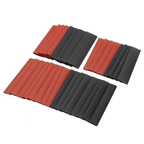 ZOYOSI 127pcs negro y rojo resistente a la intemperie tubo tubo de encogimiento de calor kit surtido