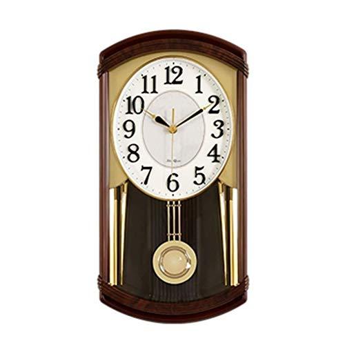 LFSP-batterij werkt Retro handgeschilderde Haard Clock Mute Klok Met pendulum swing Frame Desk Clock (Color : A)