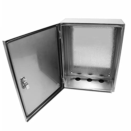 304 Stainless Steel Electrical Box 20'' x 16'' x 8'' Indoor/Outdoor...