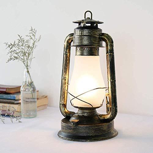 JXQ Cars Alte Kerosinlampe Lampe -E27 Tischlampe, Tischlampe amerikanische Land Antiquitäten, Retro Eisenindustrie und Warnleuchten,Iron