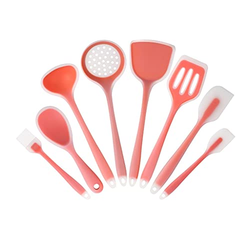 KJHD Conjunto de utensilios de cocina de utensilio de silicona sin estructura translúcida para cocinar modernos y servir (Color : 01)